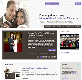 The Royal Wedding 2011 of Prince William and Catherine Middleton